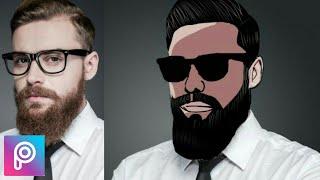 PicsArt Tutorial : Create Cartoon Effect | Vector Art