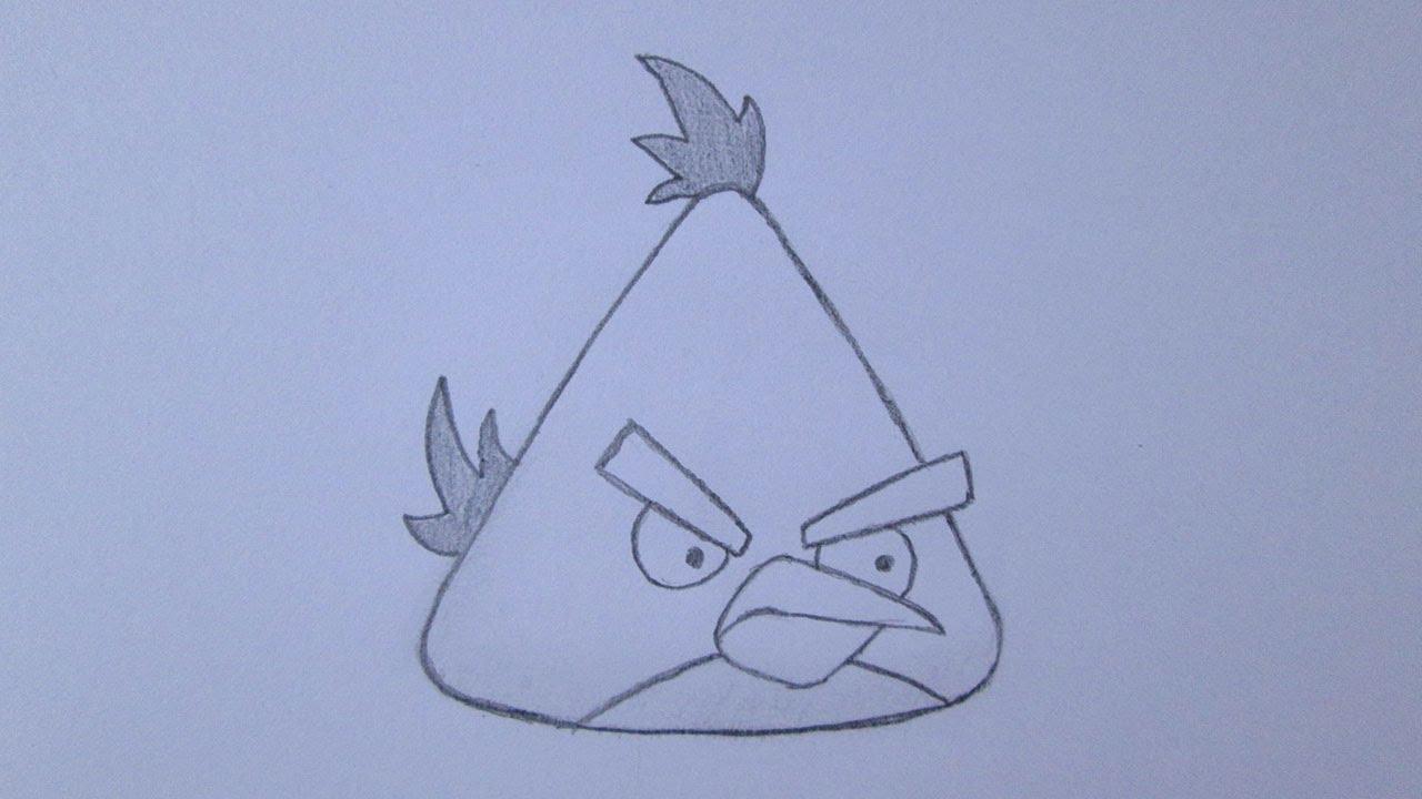 Como Desenhar O Pássaro Amarelo De Angry Birds Personagem: Como Desenhar O Pássaro Amarelo (Yellow Bird) De Angry