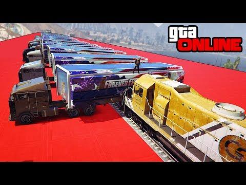 30 MOC'S VS TRAIN! +FAILS AND MORE! || GTA 5 Online || PC (Funny Moments)