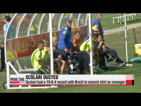Football: Brazil manager Luiz Felipe Scolari ousted