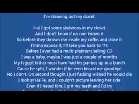 Eminem-Cleanin Out My Closet(Lyrics)