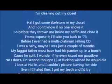 Eminem-Cleanin Out My Closet(Lyrics)