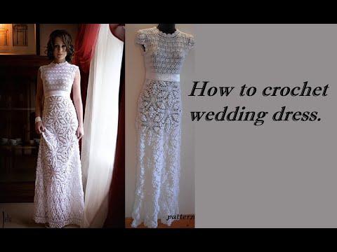 HOW TO CROCHET WEDDING DRESS MOTIF FREE PATTERN TUTORIAL