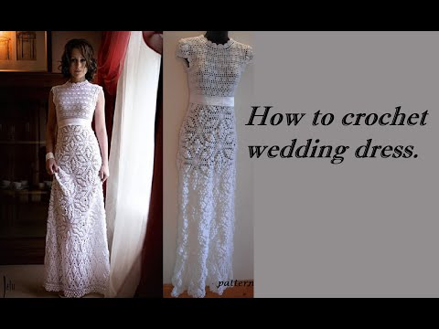How to crochet wedding dress motif free pattern tutorial youtube how to crochet wedding dress motif free pattern tutorial junglespirit Images
