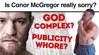 Conor McGregor Apology Backlash