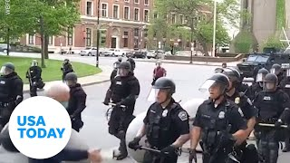 Police seen shoving elderly man to ground | USA TODAY