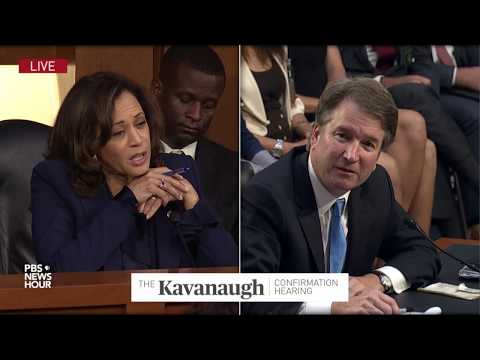 Sen. Harris asks Kavanaugh if he discussed the Mueller investigation with law firm tied to Trump