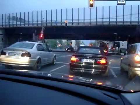 BMW 650 i VS 330 Ci Cabrio VS E46 Limousine Berlin E63 V8 Power Race Rennen Ampel