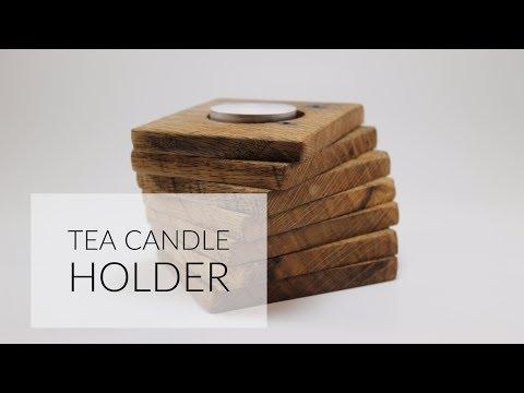 Tea Candle Holder | Pallet Wood