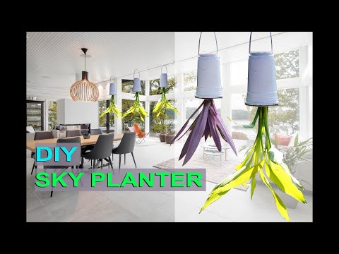 DIY-How to make a Sky Planter (Upside Down hanging planter)