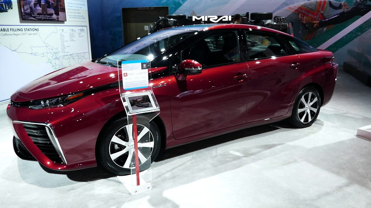 New 2018 Toyota Mirai Hydrogen Fuel Cell Car Walk Around 2017 La Auto Show
