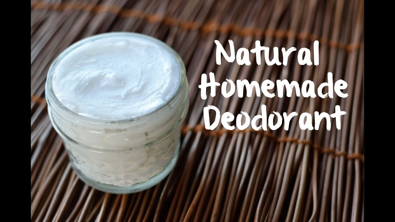 How To Make Natural Deodorant 3 Ingredients Youtube