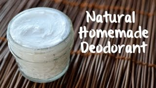 Natural Homemade Deodorant (3 ingredients!)
