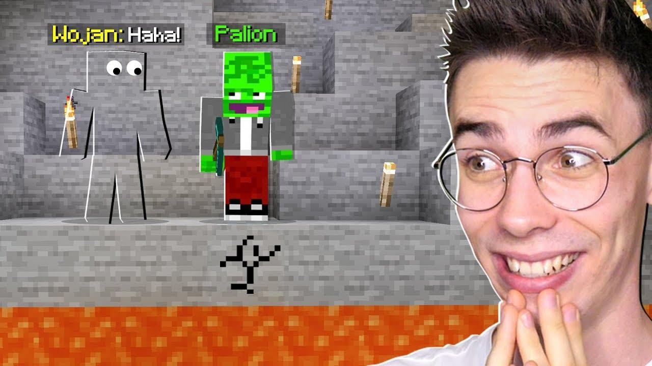 TROLLUJĘ PALIONA w KOPALNI w Minecraft! *śmieszne*