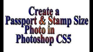 Create Passport size Photo in adobe Photoshop CS5 I Easily Photo Editing..ফটোশপ পাসপোর্ট সাইজ