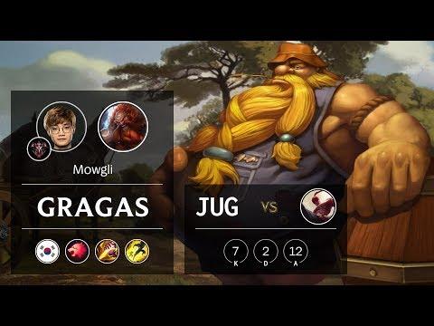 Gragas Jungle vs Lee Sin - KR Grandmaster Patch 10.2