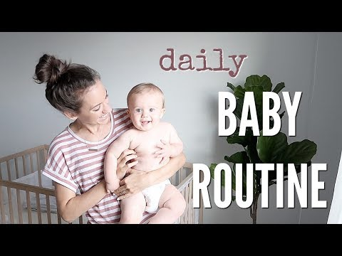 DAILY BABY ROUTINE // BABY MORNING AND NIGHT ROUTINE // SLEEP SCHEDULE + WHAT MY BABY EATS IN A DAYS