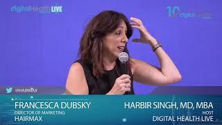 Interview Francesca Dubsky/Hairmax - Digital Health Summit Live Studio - #CES2019 #DHS19