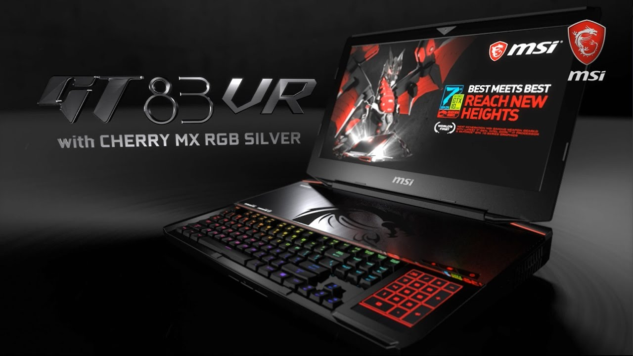 MSI GT83VR Titan SLI Gaming Laptop with World 1st Cherry RGB Silver Speed MX Switch Keyboard!