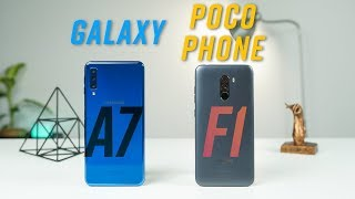 So sánh Galaxy A7 2018 & Pocophone F1