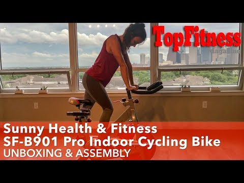 Sunny Health & Fitness SF-B901 Pro Indoor Cycling Bike Unbox & Assembly