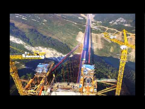 The largest suspension bridge in china and very challenging will be open on Christmas Day