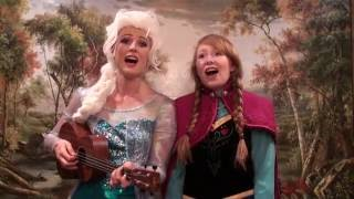 Anna and Elsa sing Do You Wanna Build a Snowman? Ukulele Cover