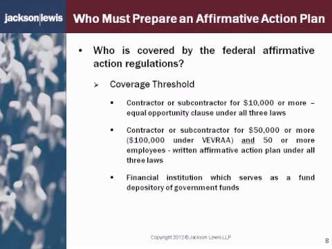 Affirmative Action Plan Compliance  Clip  WwwTrainersdirectNet
