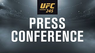UFC 245: Usman vs Covington Press Conference