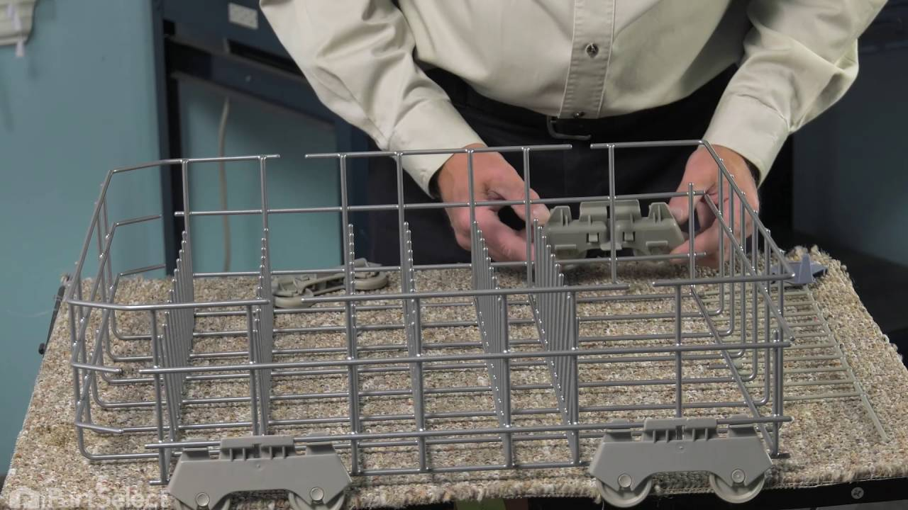 Dishwasher Repair  Replacing the Lower Rack Whirlpool Part  W10728159  YouTube