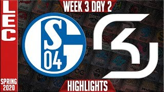 S04 vs SK Highlights | LEC Spring 2020 W3D2 | Schalke 04 vs SK Gaming