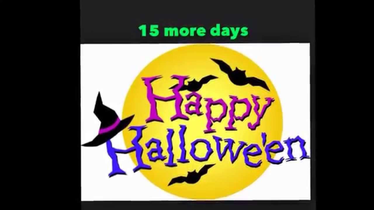 15 days till halloween
