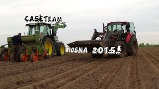 Wiosna 2015 u CaseTeam! |Siew kukurydzy|Siew zbóż|Wtopy|Orka|Obornik|Uprawa|Case|JD|Ursus|Mtz|