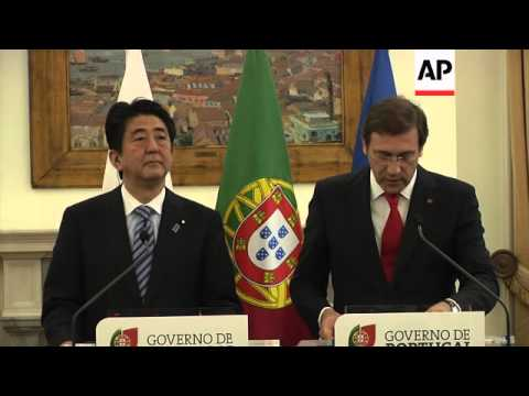 Japanese PM meets with Portuguese counterpart during 'historic' visit