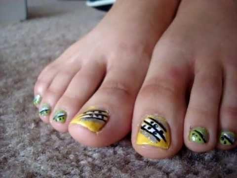 Toe Nail Art: Fast & Creative - YouTube