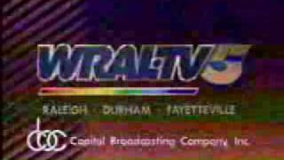 WRAL-TV Channel 5, Raleigh, NC Sign-off from Summer 1993