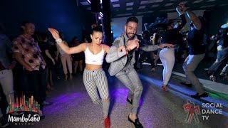 Panagiotis Aglamisis & Amneris Martinez - salsa social dancing | Mamboland Milano 2018