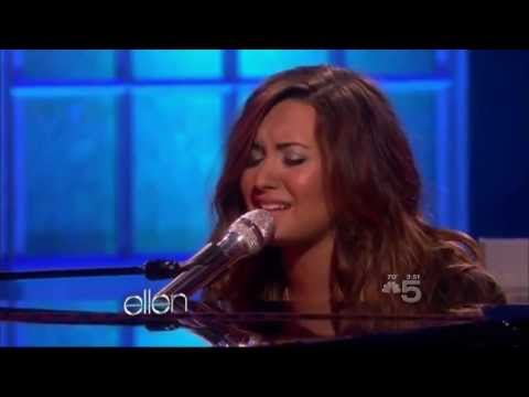Demi lovato skyscraper live at ellen 2011 youtube - Ellen show live ...