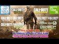 Call of Duty Series (14 Games) i5 7300HQ GTX 1050 8GB RAM Benchmark Test