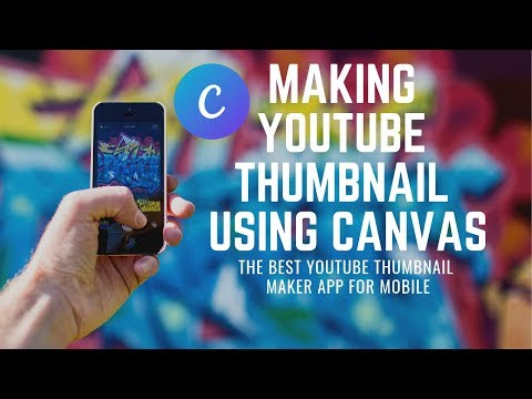 The best☝ YouTube thumbnail maker app - Canvas 👍 | How to use Canvas app  for thumbnail making 🙌