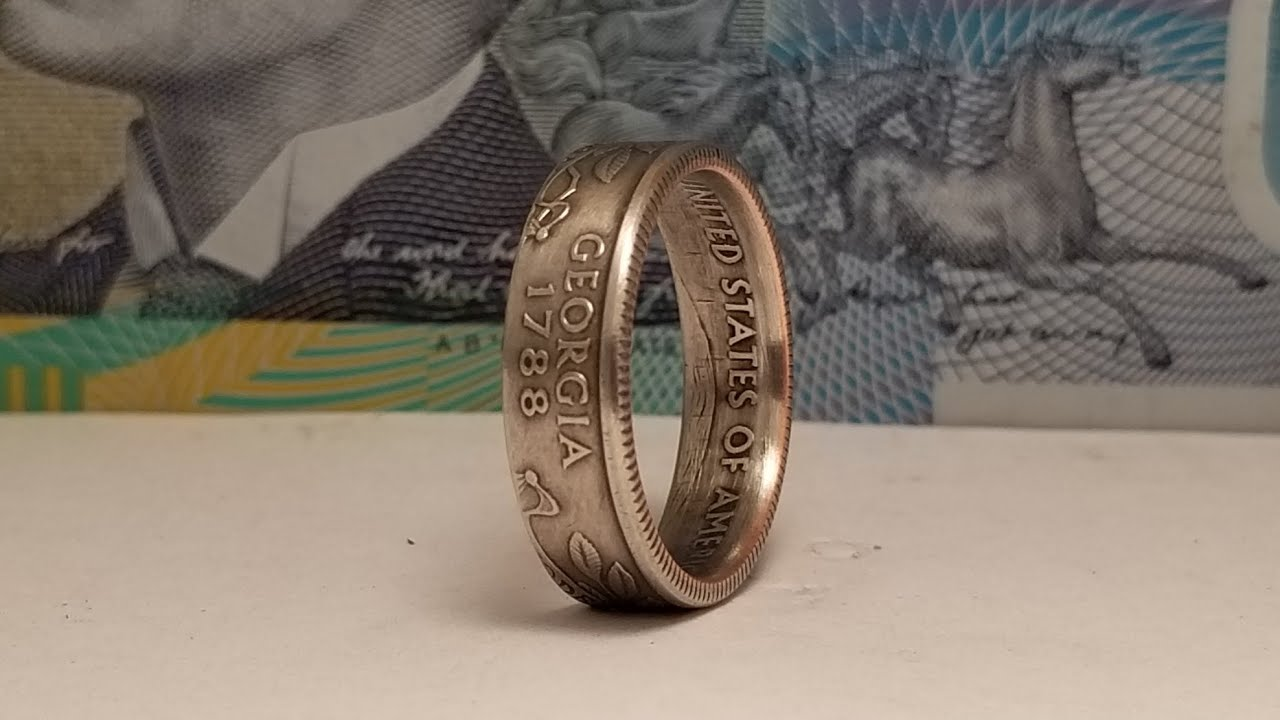 How to Make a State Quarter Coin into a Ring You Can Wear