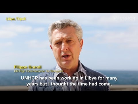 UN refugee chief, Filippo Grandi, in Libya