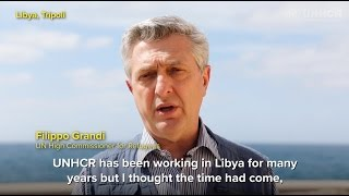 UN refugee chief, Filippo Grandi, in Libya
