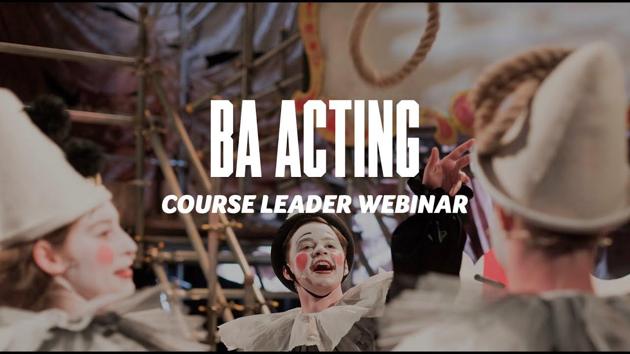 Course Webinar - BA Acting