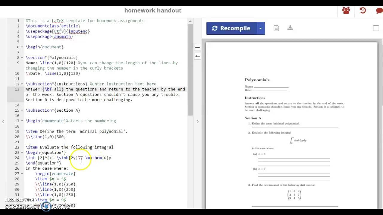 sharelatex tutorial for edp 279