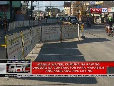 QRT: Manila Water, kumuha na raw ng dagdag na contractor para mapabilis ang kanilang pipe-laying