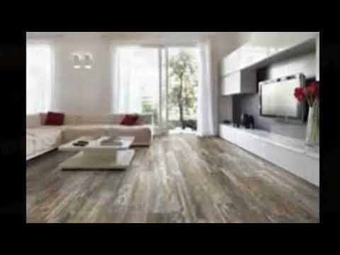 Wood Plank Tile - Wood Look Tile Around Fireplace | Stylish Modern Interiors & Design Decor