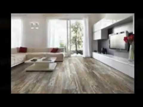 Wood plank tile wood look tile around fireplace stylish modern