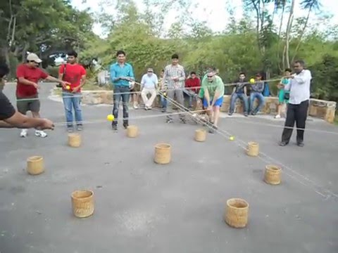 Team building activity ball game with ropes 2 youtube - Team building swimming pool games ...
