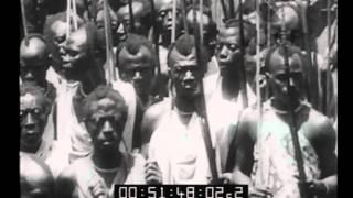 Uganda, Congo Belga. S.M il Re del Belgio visita la colonia. L